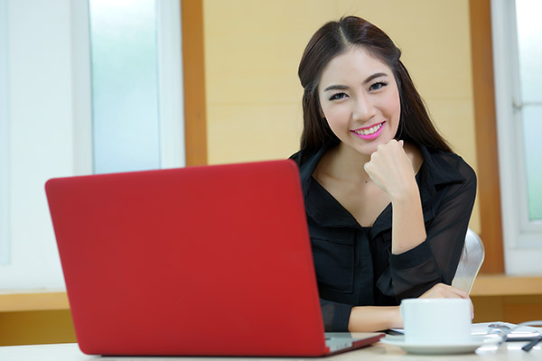 Attractive woman office executive