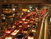 Bangkok traffic evening rush hour